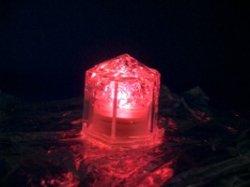 画像1: LED 光る氷 ライトキューブ LITECUBES クリスタルタイプ・レッド・オレンジ・イエロー 24個ケース売り