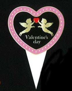 画像1: バレンタイン用 ケーキピック(紙) PVP-009 【代引不可商品】