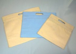 画像1: かわいい保冷袋・クーラーバッグ 不織布+アルミでオシャレ クールチャックバッグ 小判抜き Mサイズ 格安販売