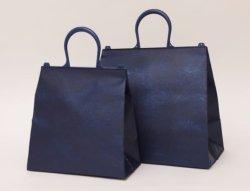 画像2: おしゃれな保冷袋・クーラーバッグ 不織布+アルミでオシャレ アーチハンドルクールバッグ Lサイズ
