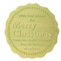 画像1:  クリスマス用シール 金色丸型ラベル(金ケシ) SK-788  120枚/袋