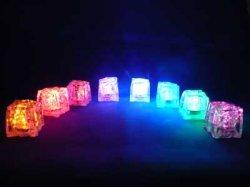 画像1: LED 光る氷 ライトキューブ LITECUBES ボタンタイプ・レッド・オレンジ 1個売り